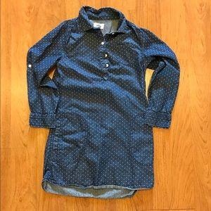 Old Navy Blue Polka Dot Dress